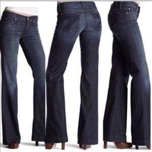 7FAM dojo Flare Leg Jeans Size 30